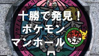 【アローラロコン】ポケストップにもなってる!十勝のポケモンマンホール【可愛いポケふた】