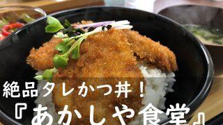 オシャレで可愛い!新潟の絶品グルメ『タレかつ丼』まで食べられる定食屋さん「あかしや食堂」