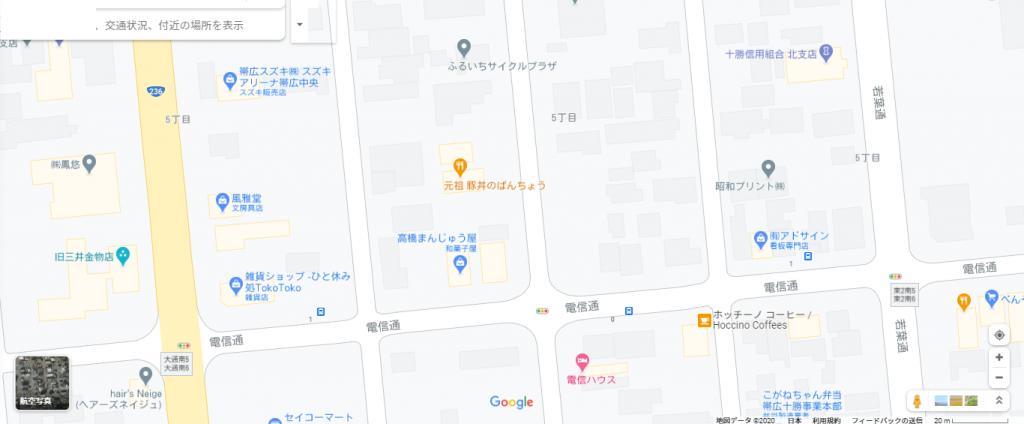 ぱんちょう地図写真
