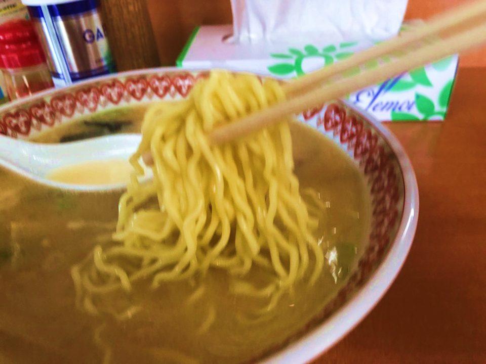 麺のアップの写真